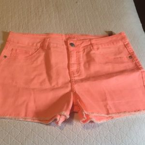Girls Justice Bright Tangerine Shorts 20 Plus